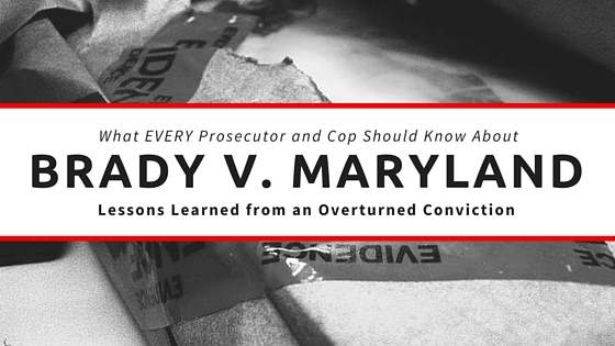 brady v maryland Pace university digitalcommons@pace pace law faculty publications school of law 2006 reflections on brady v maryland bennett l gershman elisabeth haub school of.