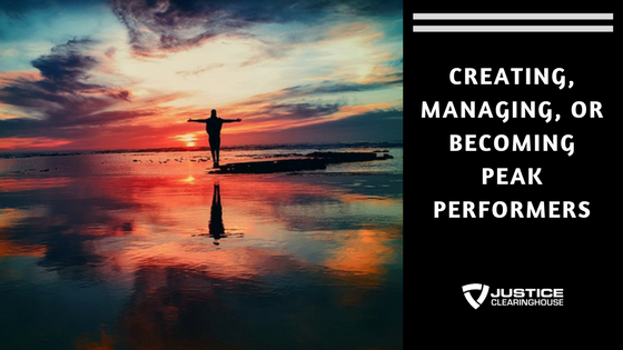 Creating, Managing, or Becoming Peak Performers