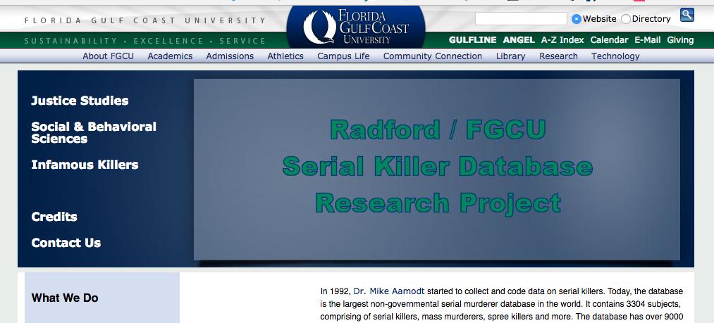 serial murder database